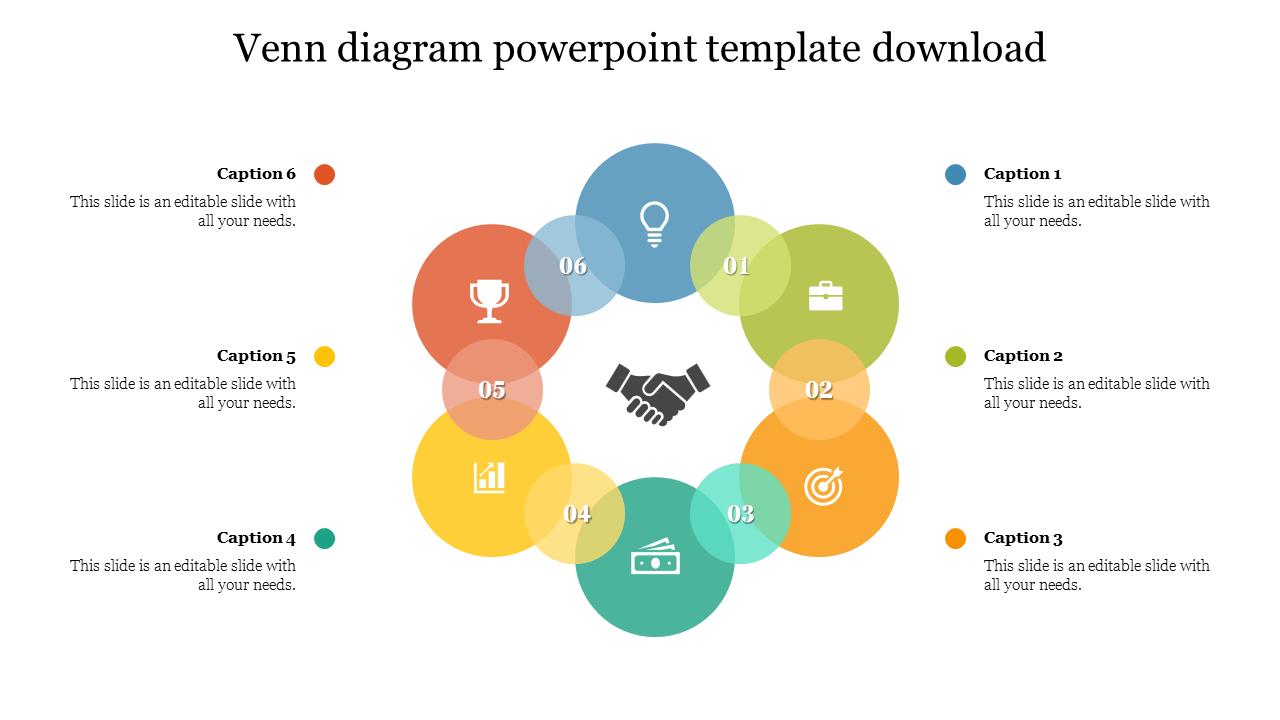 Creative Venn Diagram Powerpoint Template Download- SlideEgg