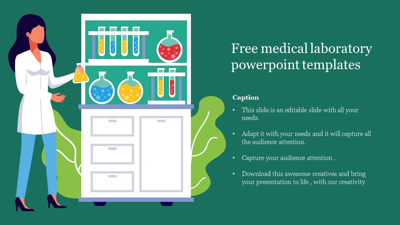 Free Medical Laboratory Powerpoint Templates Slide Slideegg
