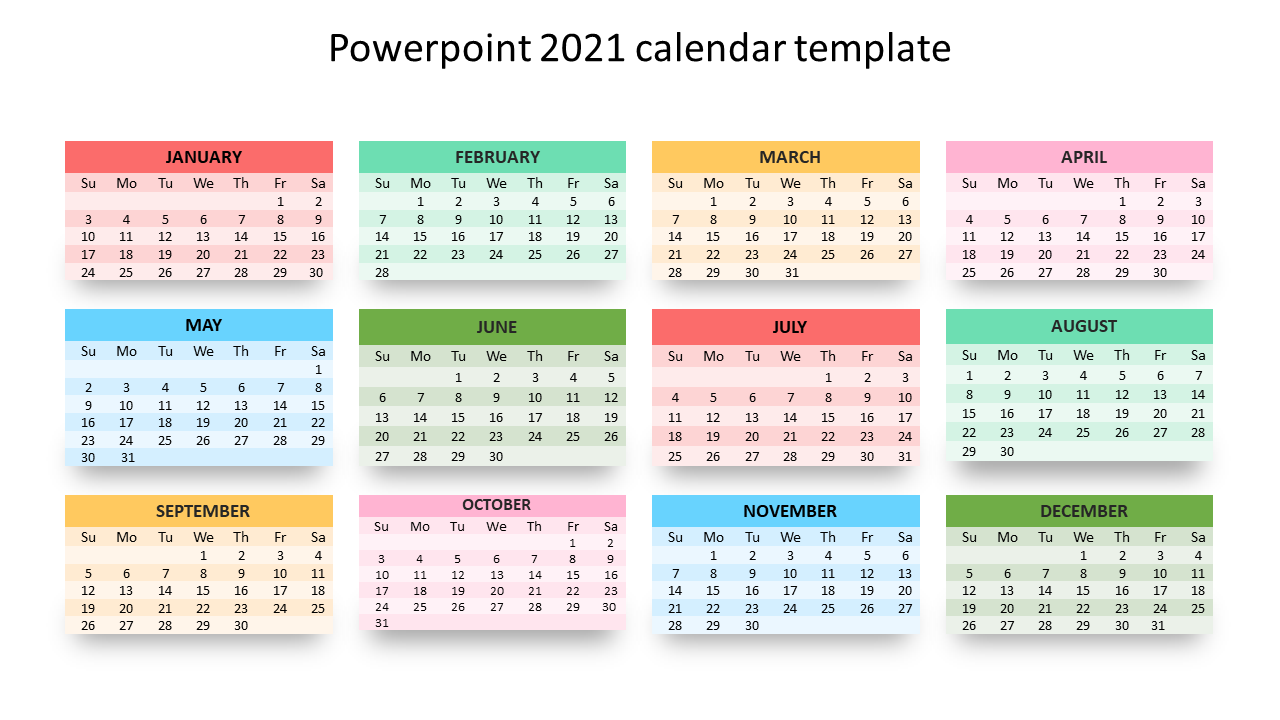 Template For Calendar 2021 Pictures