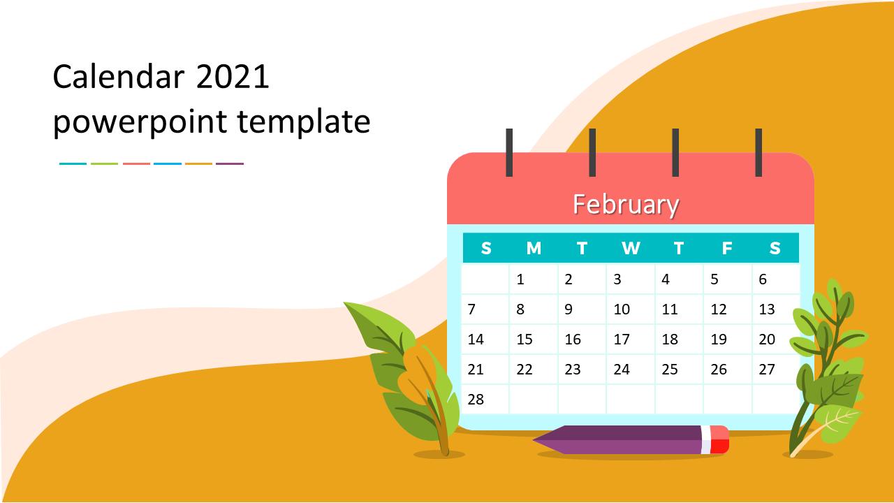 2021 Powerpoint Calendar Creative calendar 2021 powerpoint template