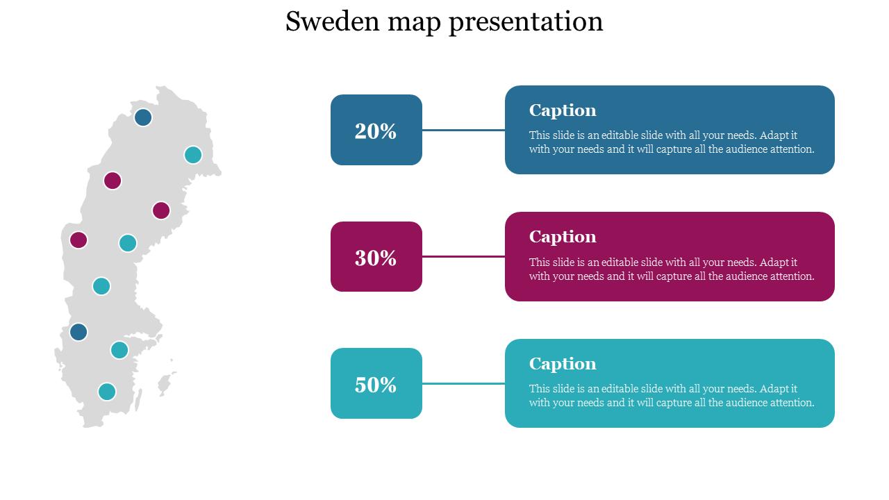 Sweden Map Presentation Template