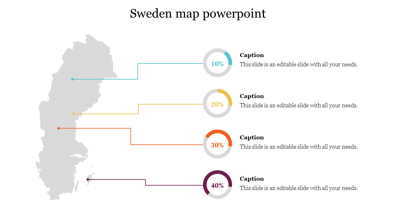 Editable Sweden Map Powerpoint