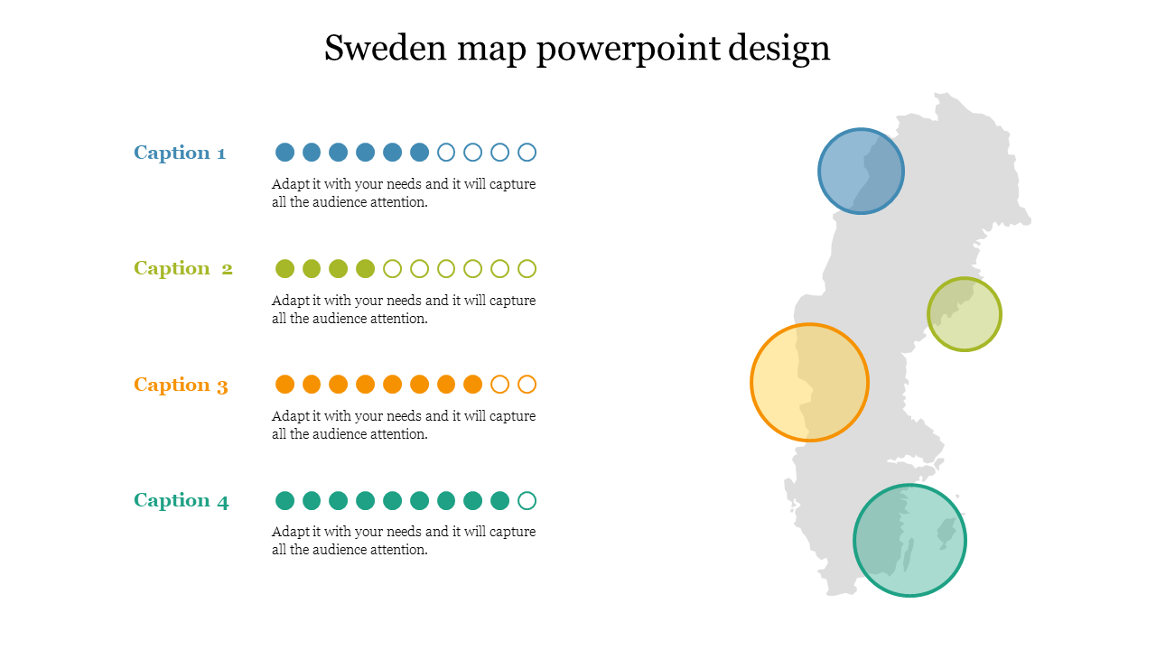 Editable Sweden Map Powerpoint Design