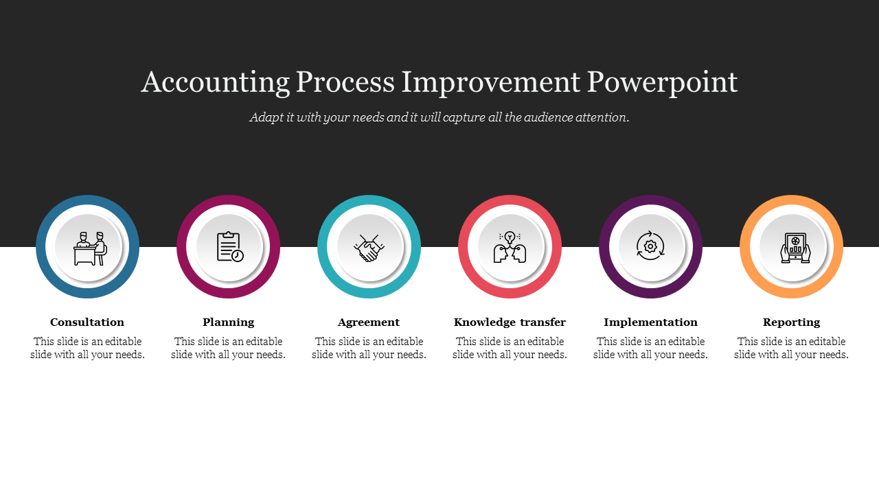 Accounting Process Improvement Powerpoint Slide