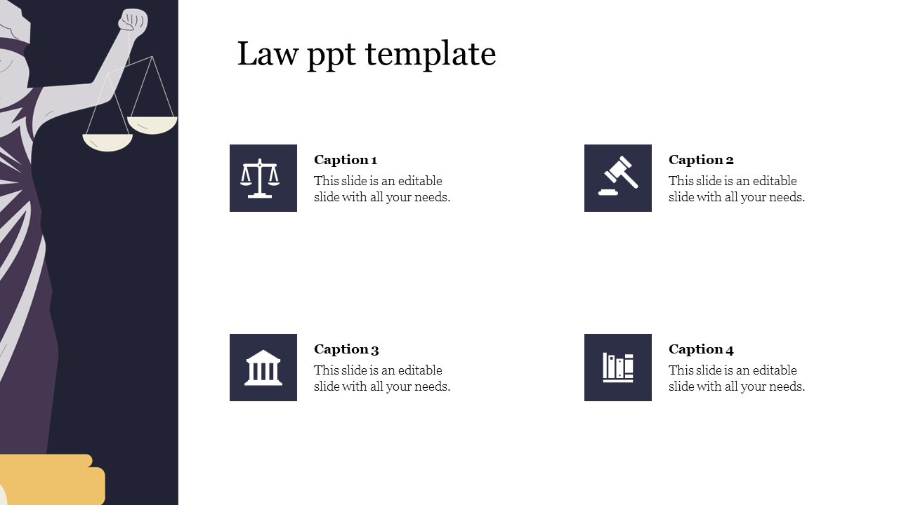 Editable Law PPT Template For Presentation
