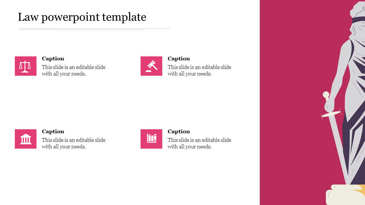 Law Powerpoint Template For Presentation