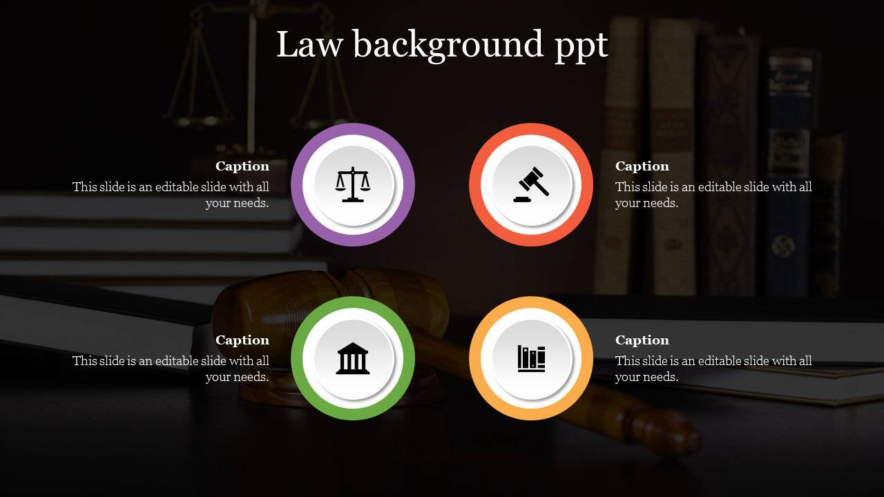 Editable Law Background PPT