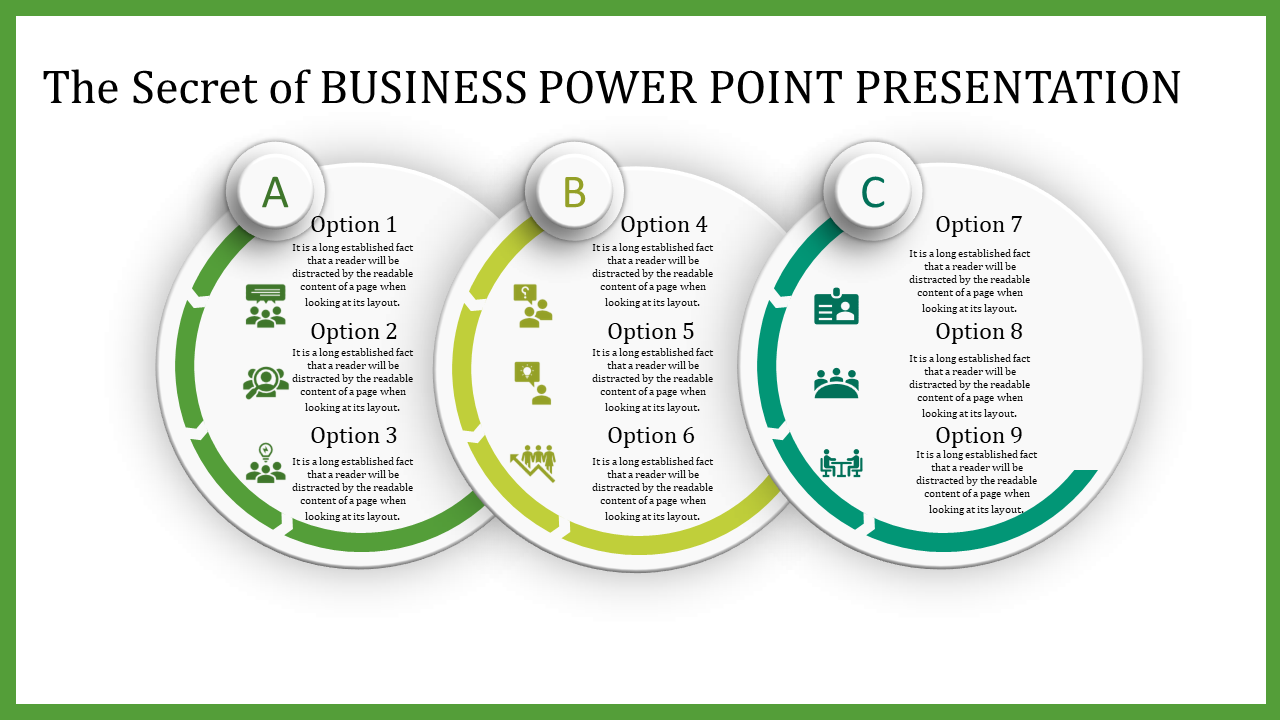 Business Power Point Presentation With Circles