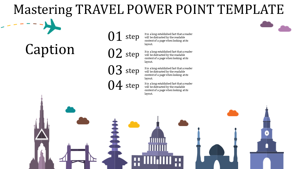 Free-travel Power Point Template With Building Icons