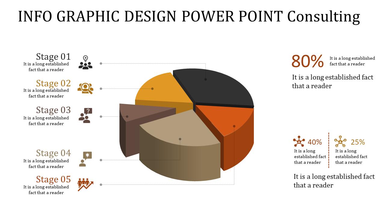 Info Graphic Design Power Point - Pie Chart