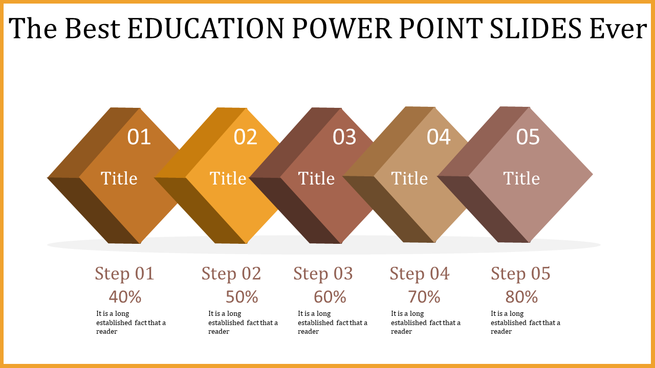 Education Power Point Slides - Directional Arrows