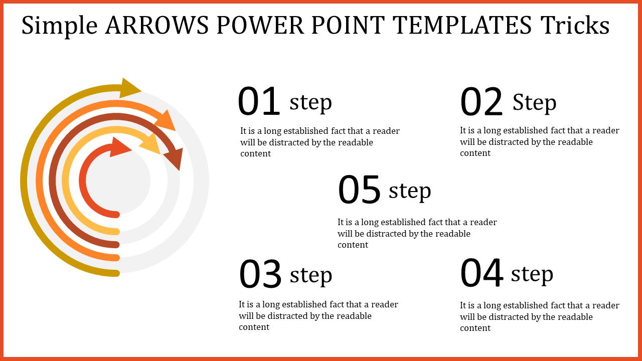 Circular Arrows Powerpoint Templates