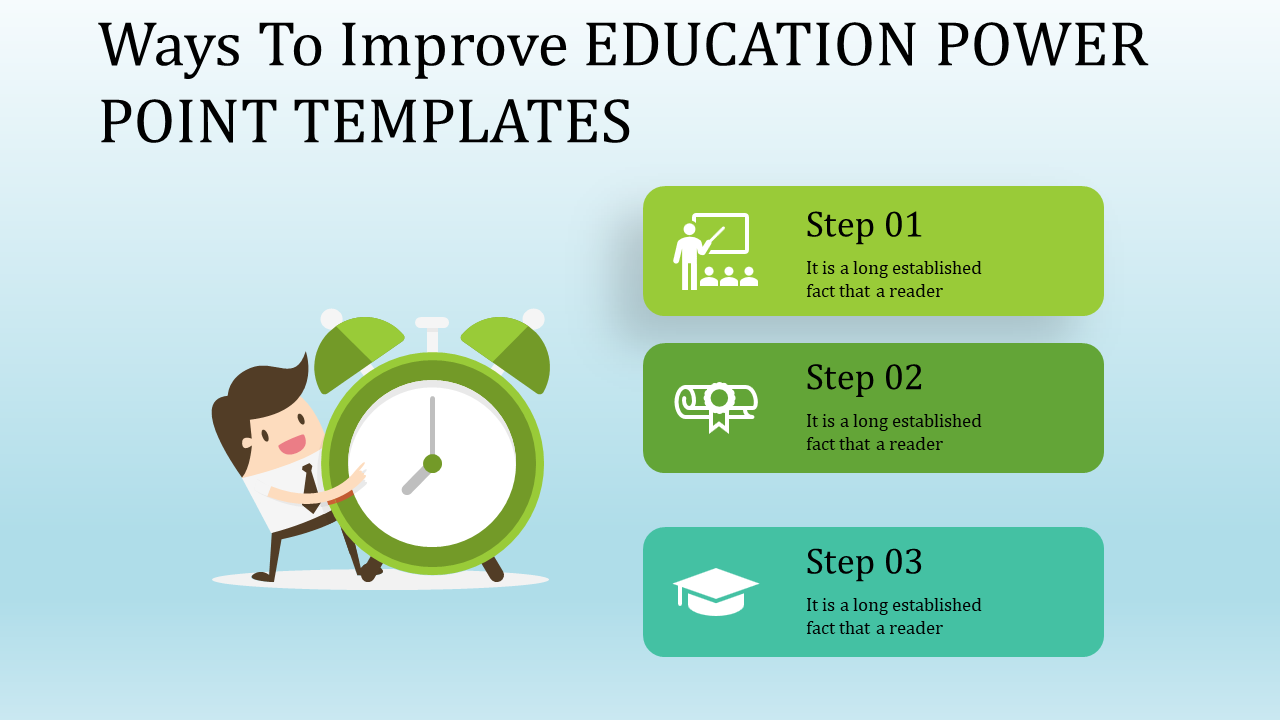 Education Power Point Templates - Alarm Model