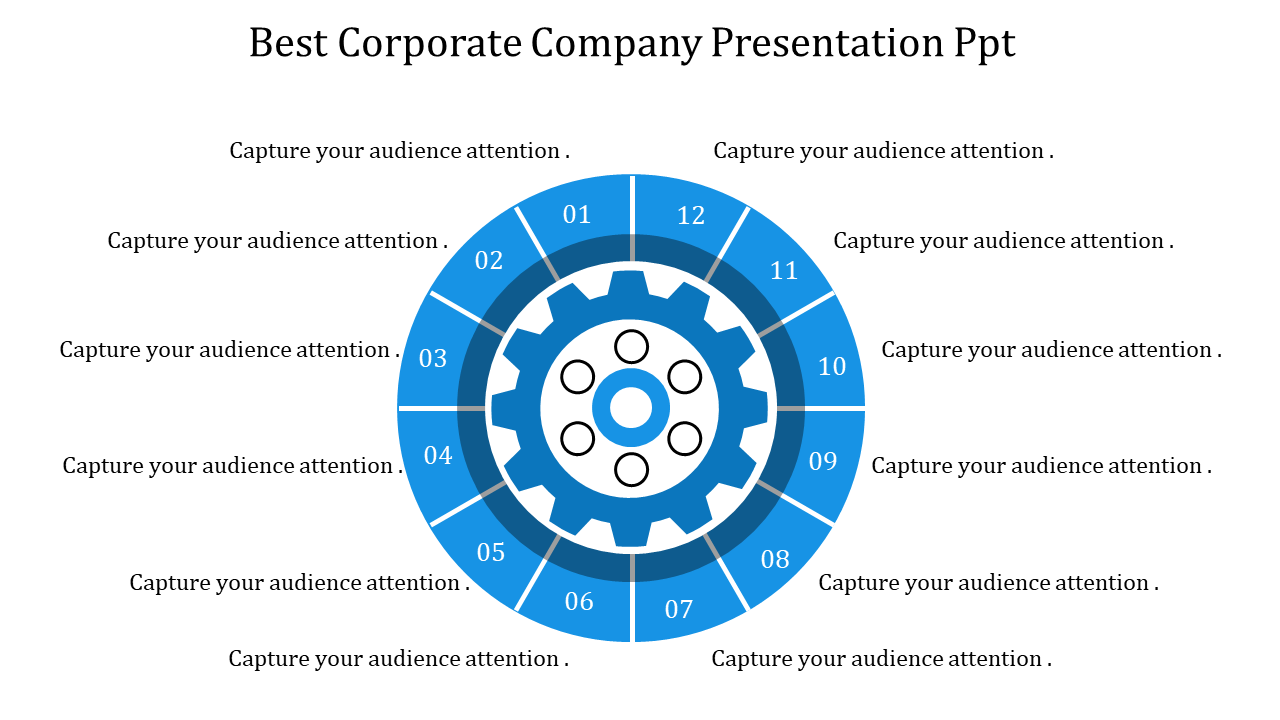 A Twelve Noded Corporate Company Presentation PPT