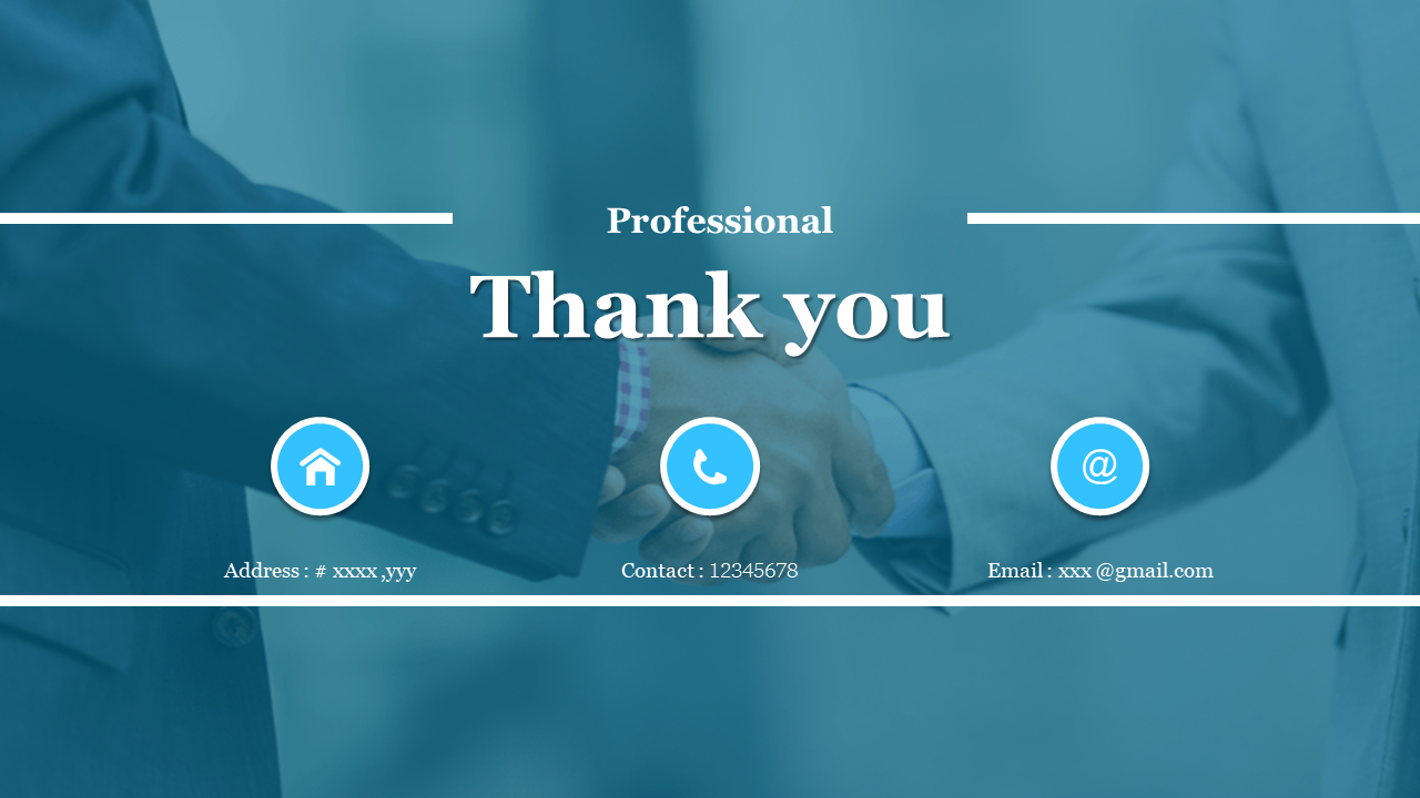 Best professional thank you images for powerpoint