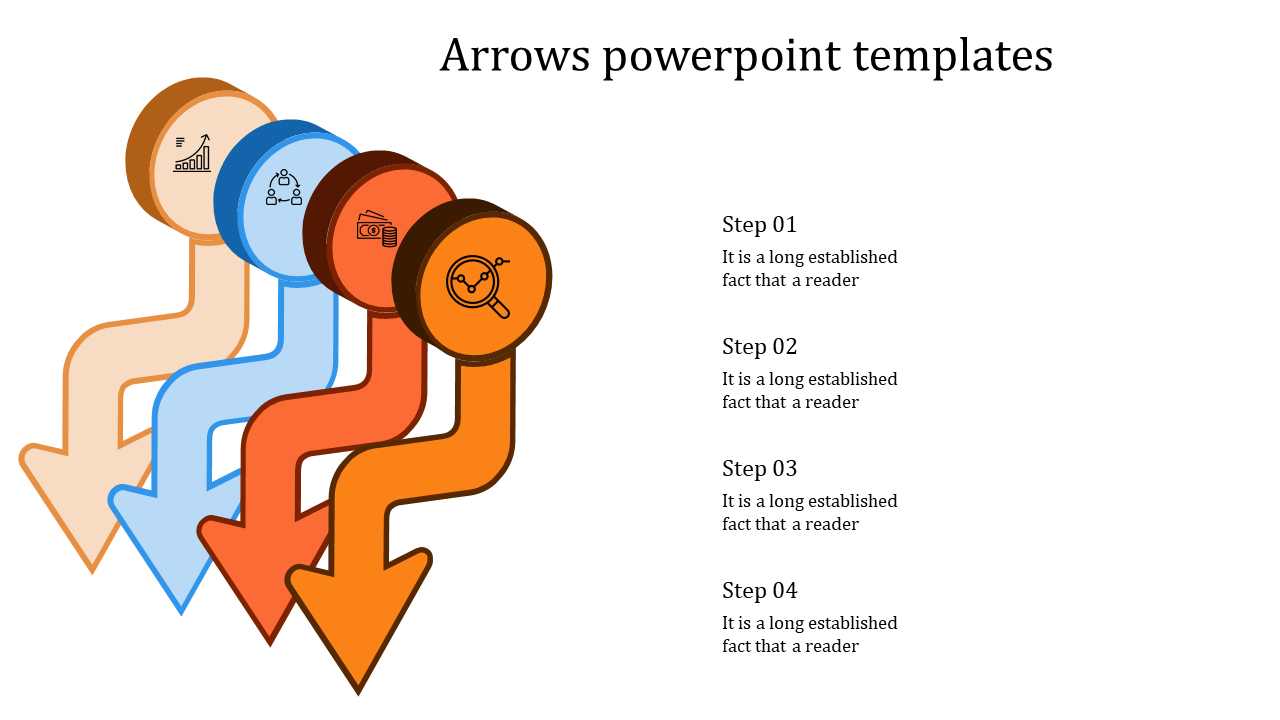 Arrows Powerpoint Templates Pointing Downwards