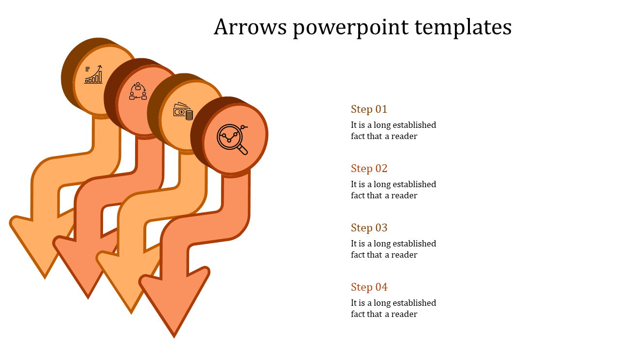 Pipe Model Arrows Powerpoint Templates