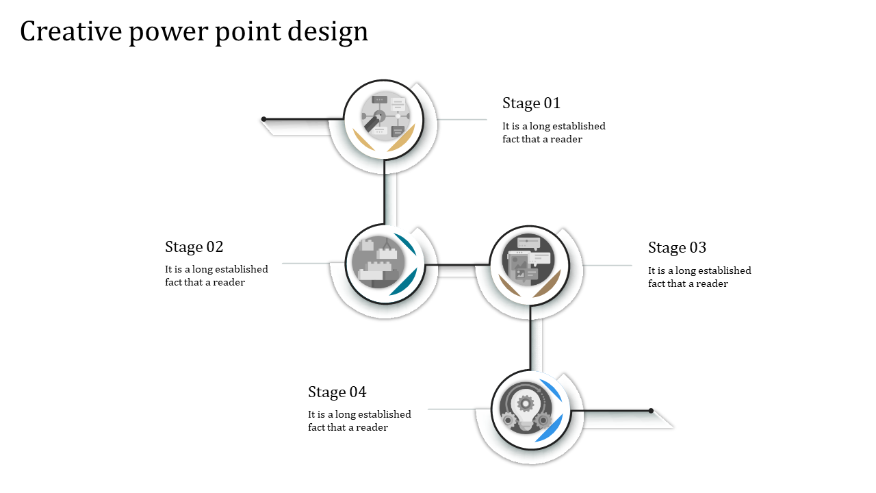 Free-Creative Powerpoint Design - Circular Loop Model