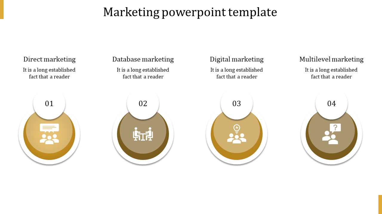 A Four Noded Marketing Powerpoint Presentation