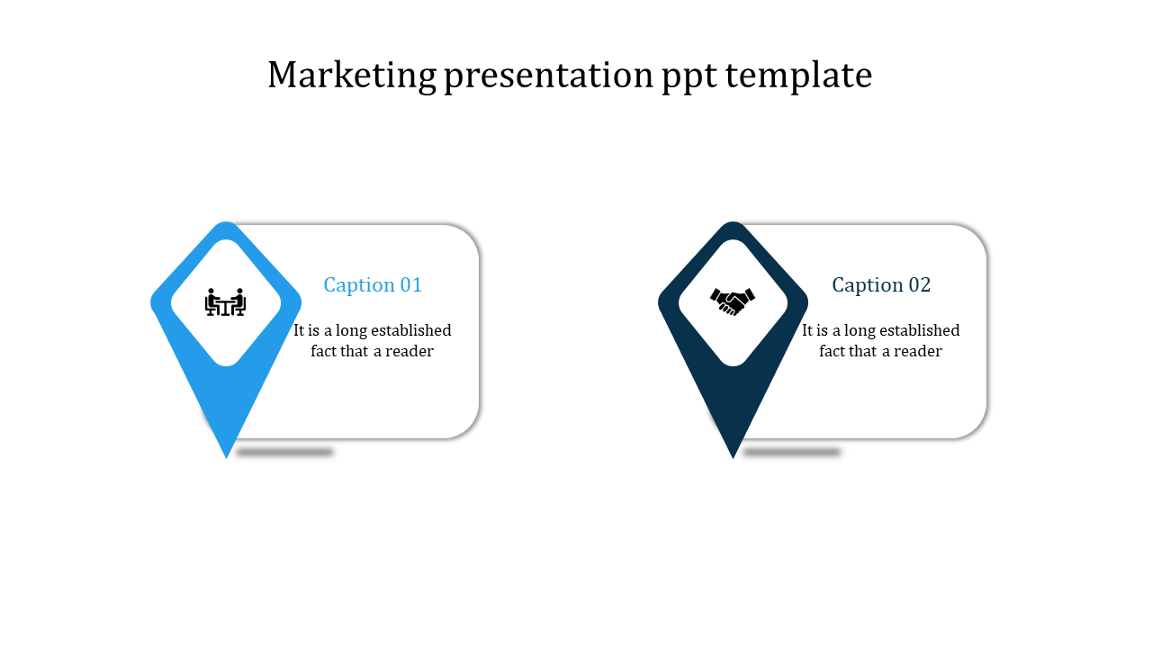 Two Stages Marketing Presentation Ppt Template