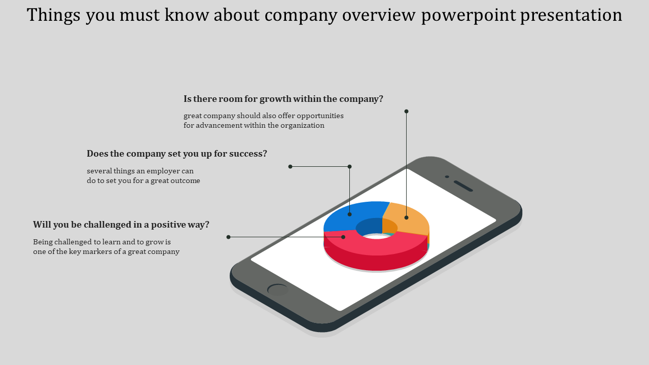 A Three Noded Company Overview Powerpoint Presentation