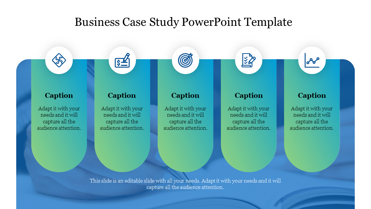 A Two Noded Business Case Study Powerpoint Template