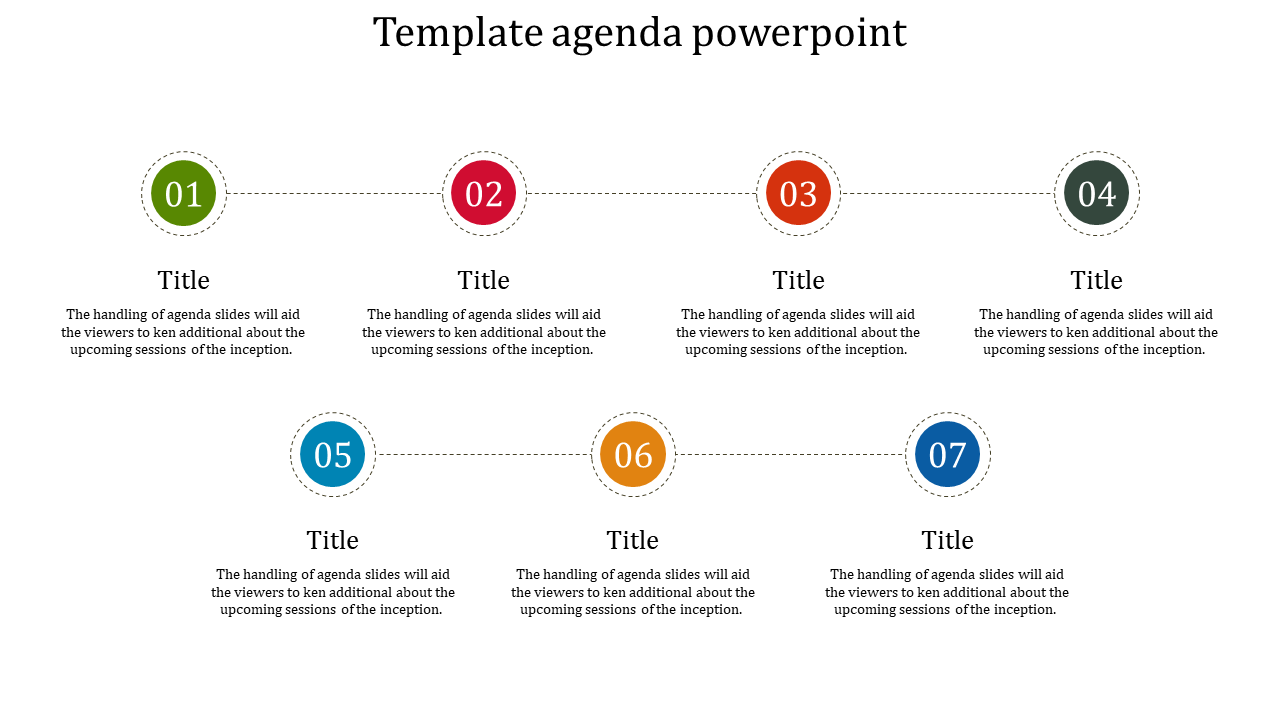 A Seven Noded Template Agenda Powerpoint