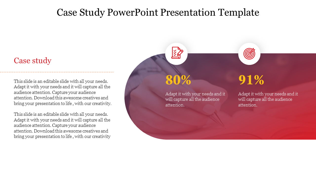 Free-Simple Best Case Study Powerpoint Presentation Template
