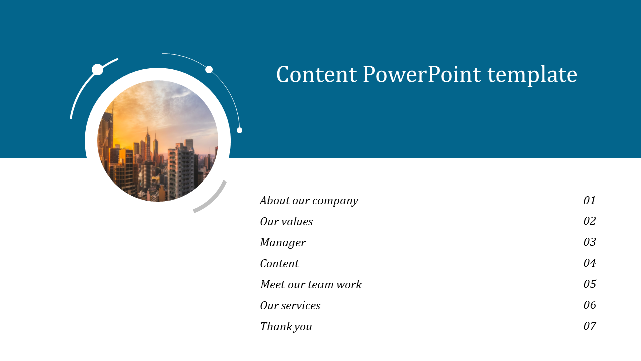 Best Simple Content Powerpoint Template