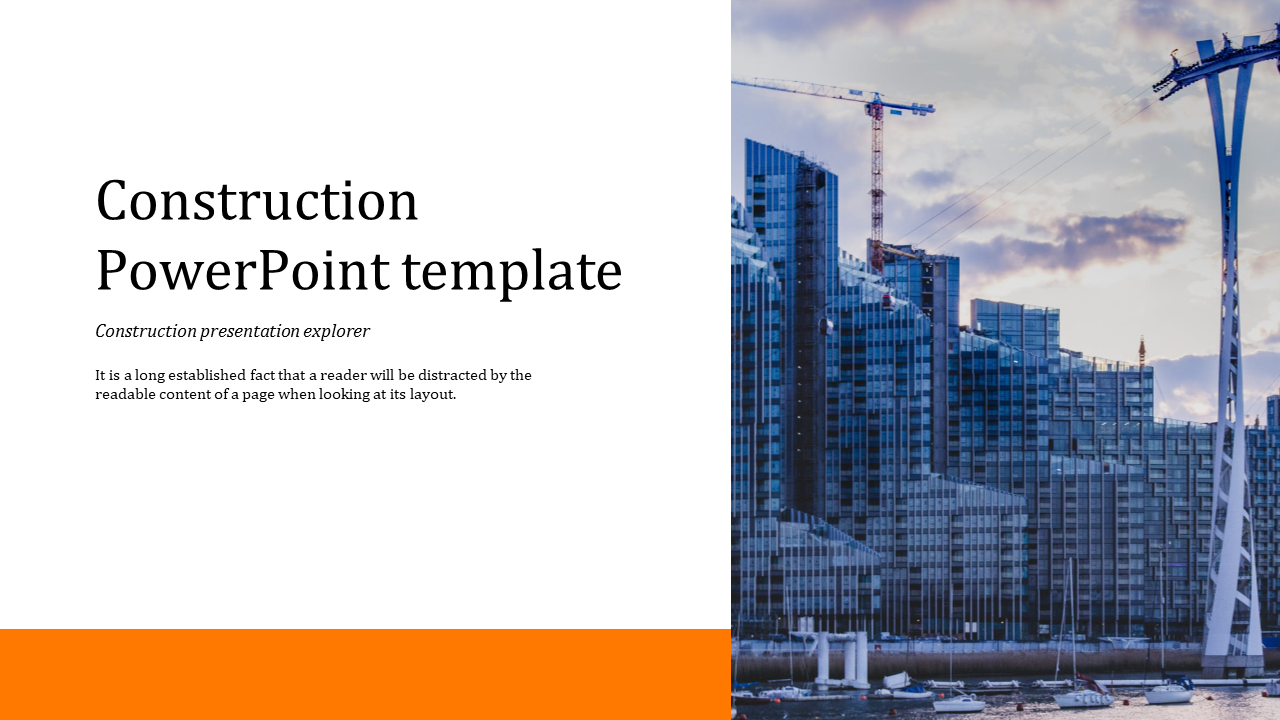 Construction Powerpoint Template For Inductry Slideegg