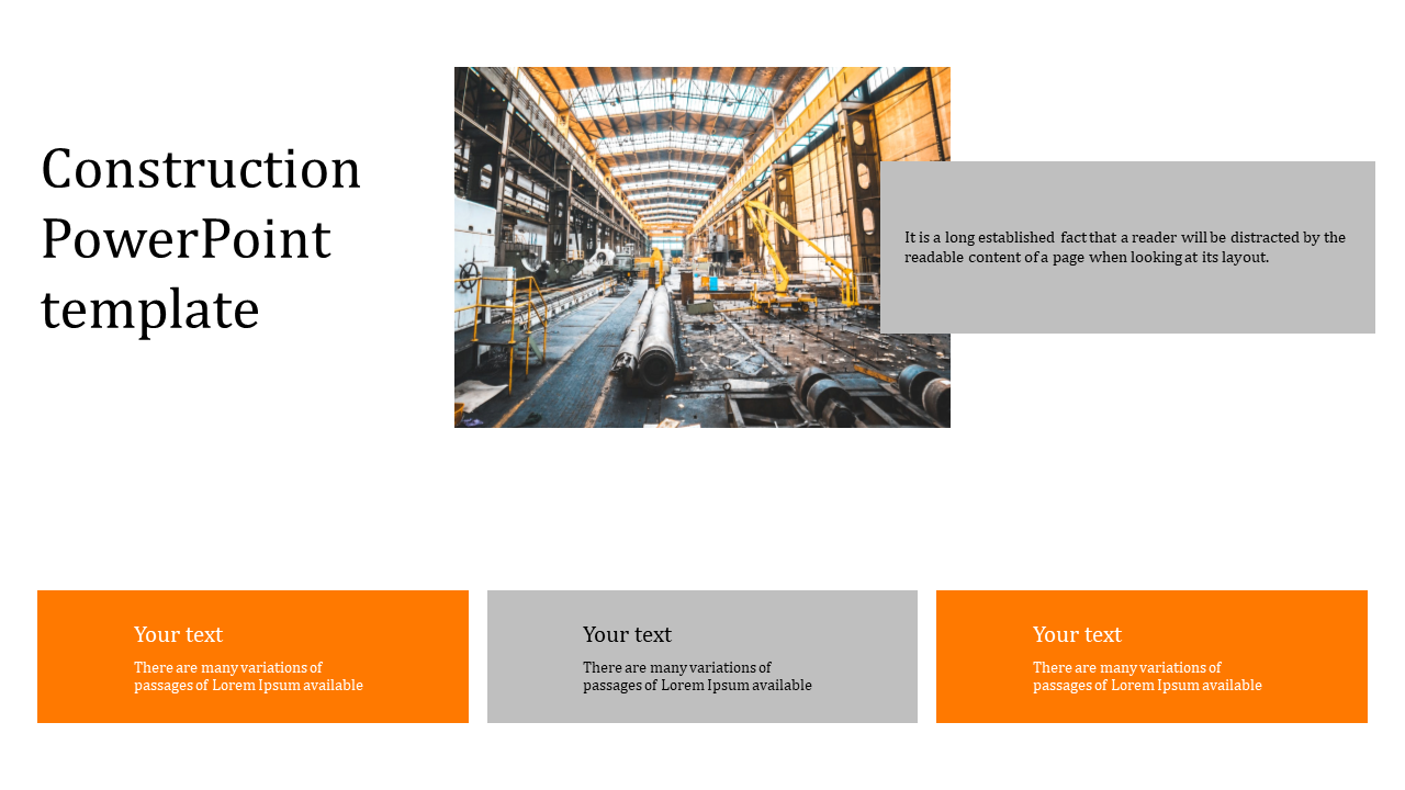 Professional Simple Construction Powerpoint Template Slideegg