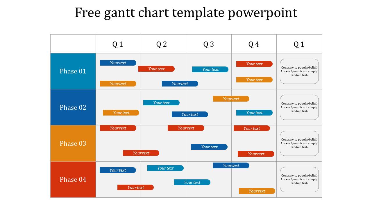 Free Gantt Chart Template Powerpoint Slideegg