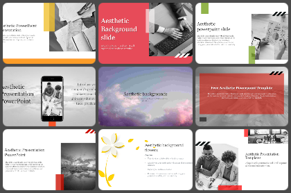 Aesthetic Powerpoint Templates