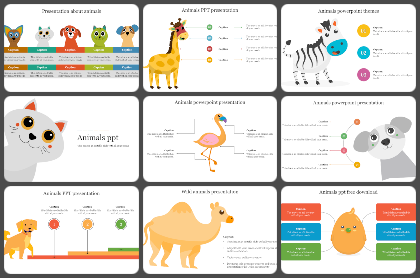 Animals Powerpoint Templates