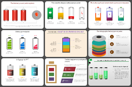 Batteries Powerpoint Templates