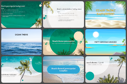 Beach Powerpoint Templates