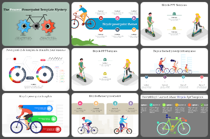Bi-cycle Powerpoint Templates