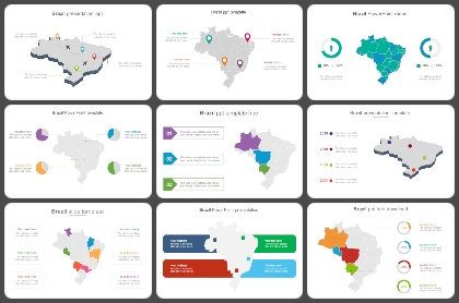 Brazil map Powerpoint Templates