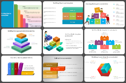 Building blocks Powerpoint Templates