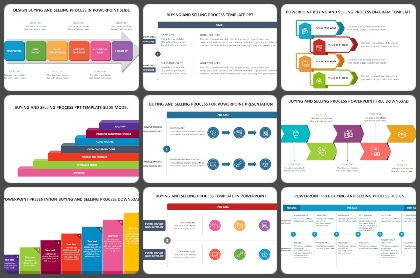 Buying and Selling Process Powerpoint Templates