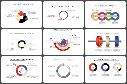 C Donut Powerpoint Templates