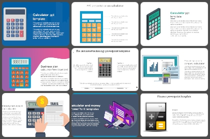 Calculator Powerpoint Templates