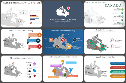 Canada map Powerpoint Templates