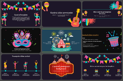 Carnivals Powerpoint Templates