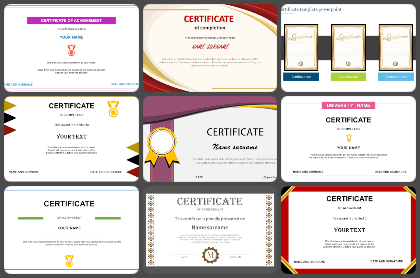 Certificate Powerpoint Templates