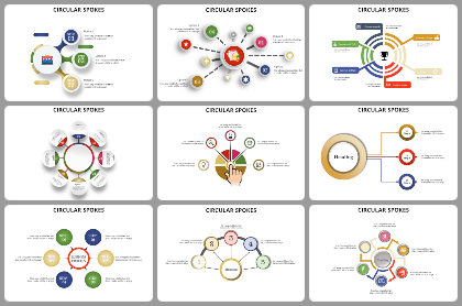Circular - Spokes Powerpoint Templates