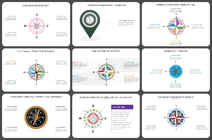 Compass Shapes Powerpoint Templates