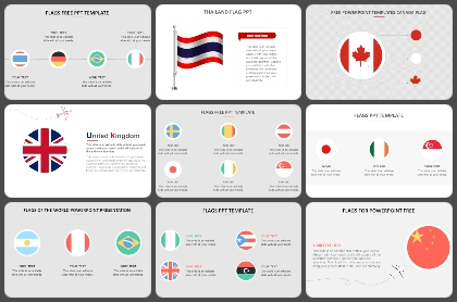 Country Flags Powerpoint Templates