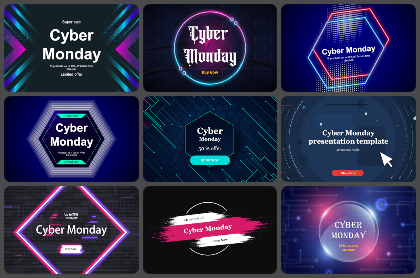 Cyber Monday Powerpoint Templates