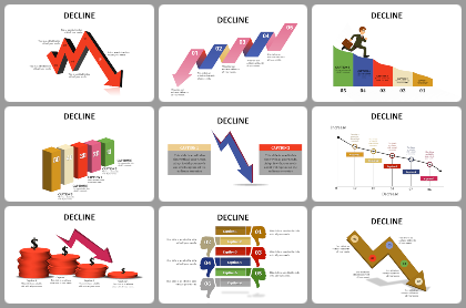 Decline Powerpoint Templates
